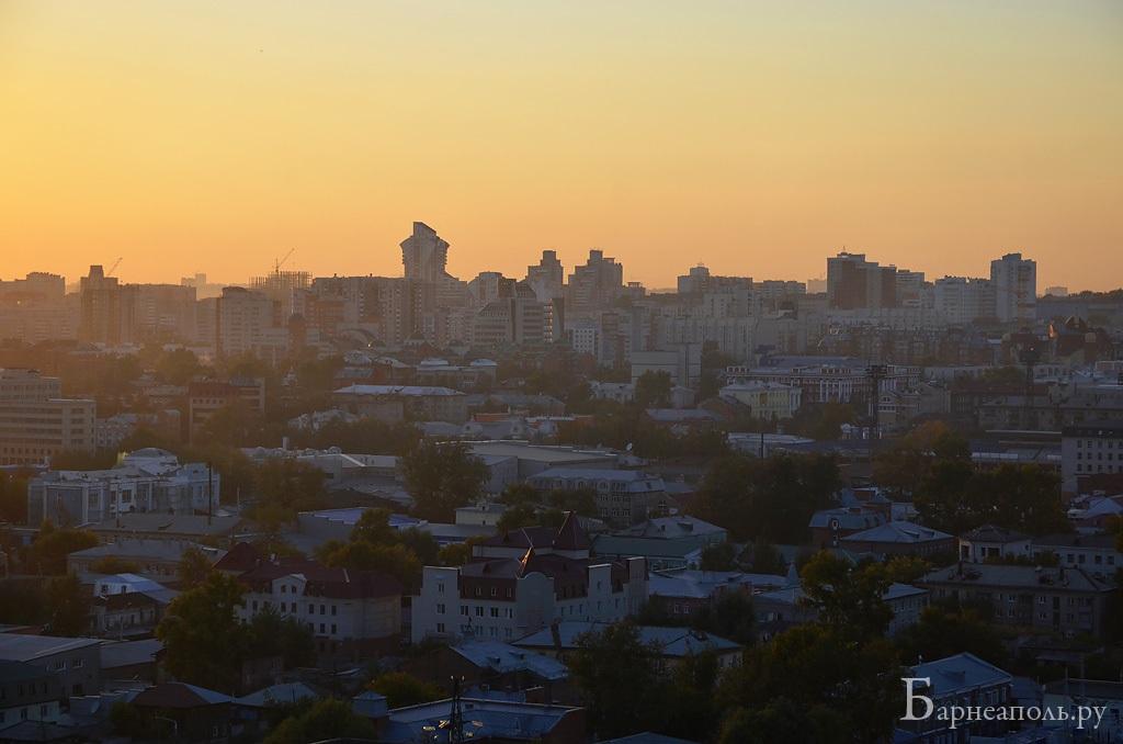 Барнаул в лучах заката